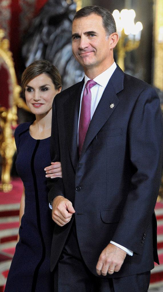 Felipe VI et sa femme Letizia d'Espagne