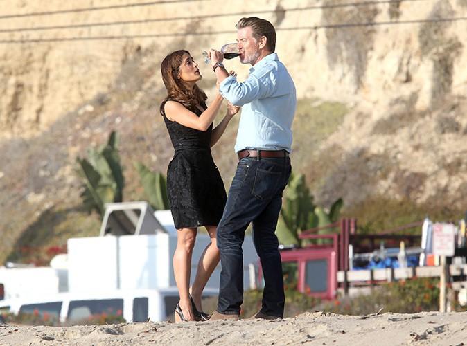Salma Hayek et Pierce Brosnan à Malibu le 4 novembre 2013