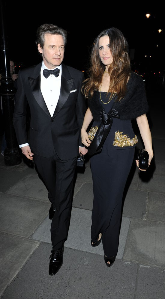Colin Firth et son épouse Livia Giuggioli à Londres le 12 mars 2015