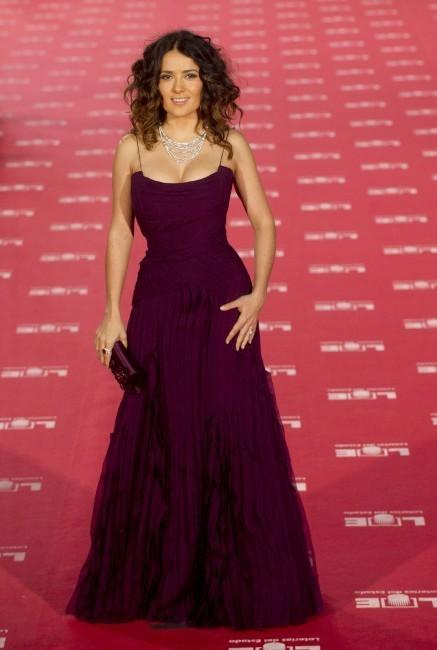 Salma Hayek lors de la cérémonie des Goya Cinema Awards à Madrid, le 19 février 2012.