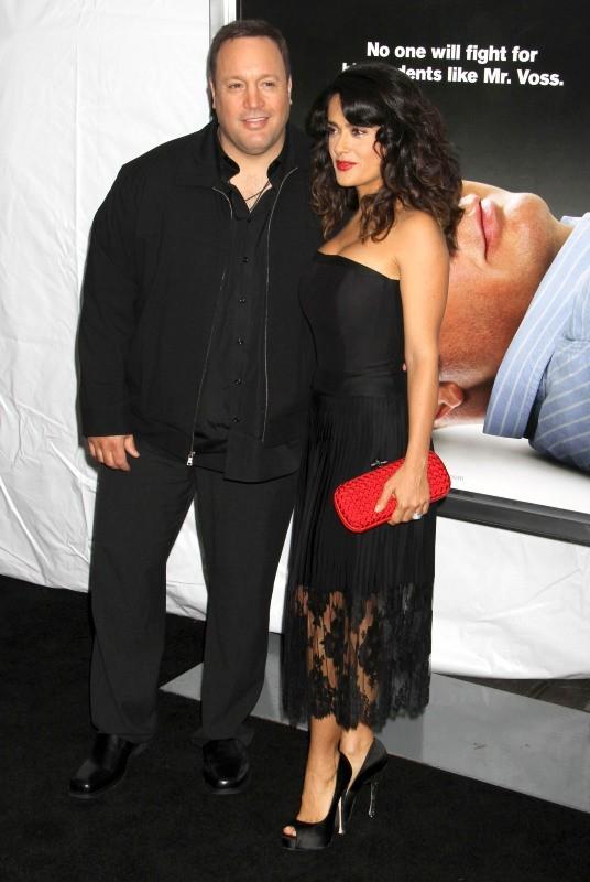 Salma Hayek et kevin James le 9 octobre 2012 à New York