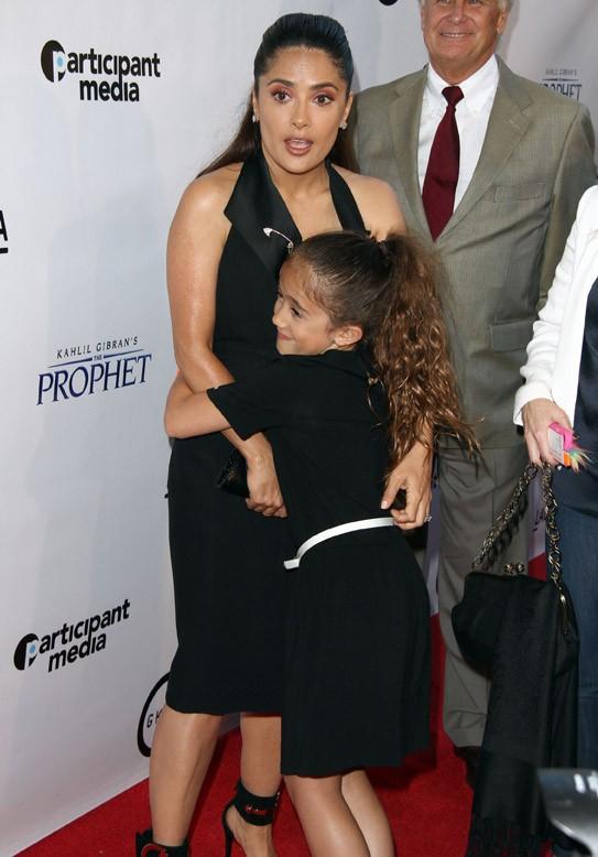 Salma Hayek et sa fille Valentina à Los Angeles le 29 juillet 2015