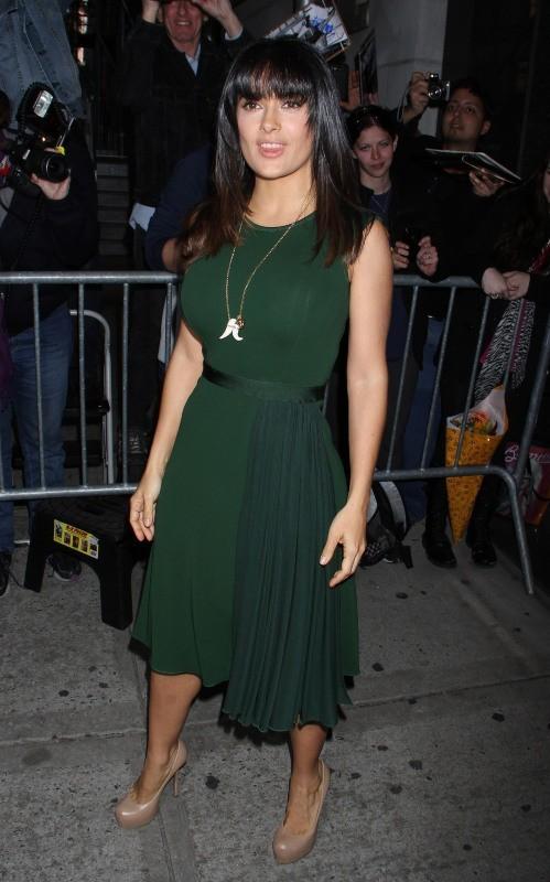 Salma Hayek en promo à New York, le 11 octobre 2012.