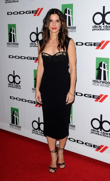Sandra Bullock lors de la soirée des Hollywood Film Awards à Los Angeles, le 21 octobre 2013.