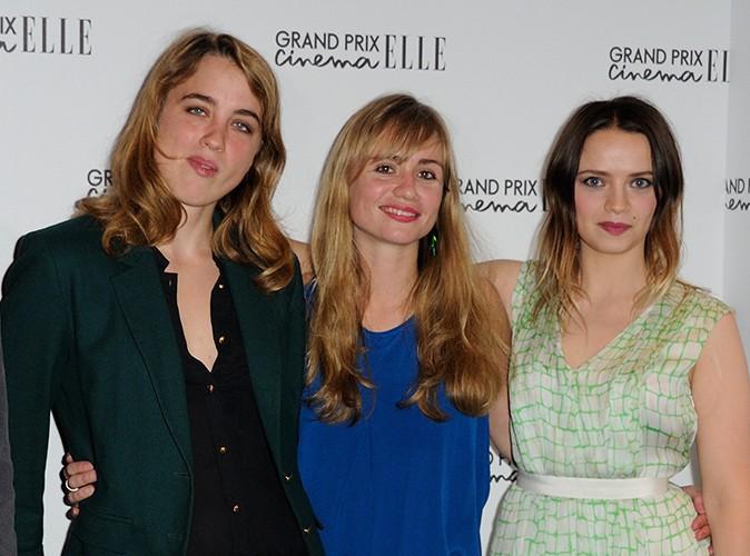 Adèle Haenel, Katell Quillévéré et Sara Forestier à Paris le 7 octobre 2013