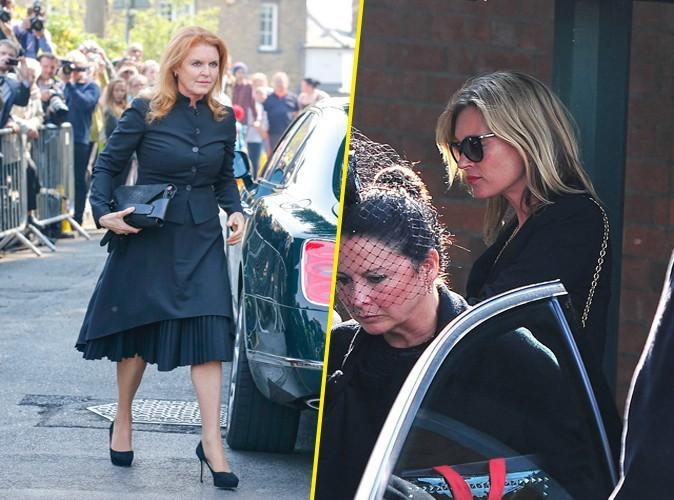 Photos : Sarah Ferguson et Kate Moss : de passage à Kent pour rendre un dernier hommage à Peaches Geldof...