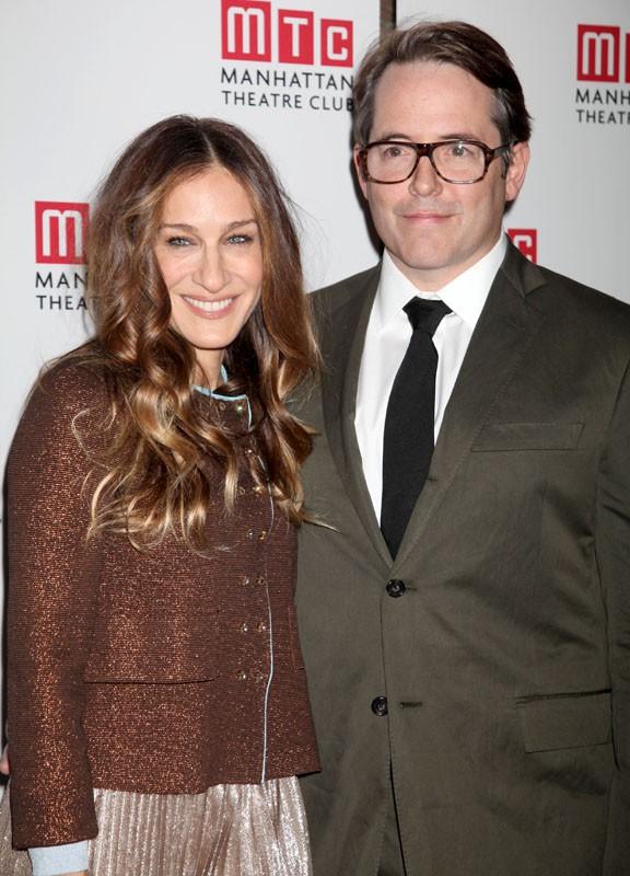 Sarah Jessica Parker et son mari, Matthew Broderick, à la présentation de la nouvelle pièce de Madame, à Broadway