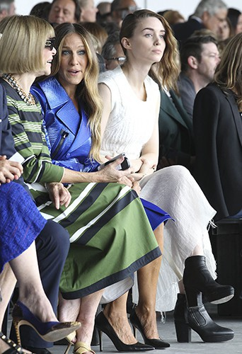 Anna Wintour, Sarah Jessica Parker et Rooney Mara à New York le 11 septembre 2014