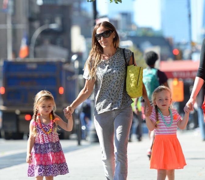Sarah Jessica Parker et ses jumelles à New York, le 4 septembre 2013