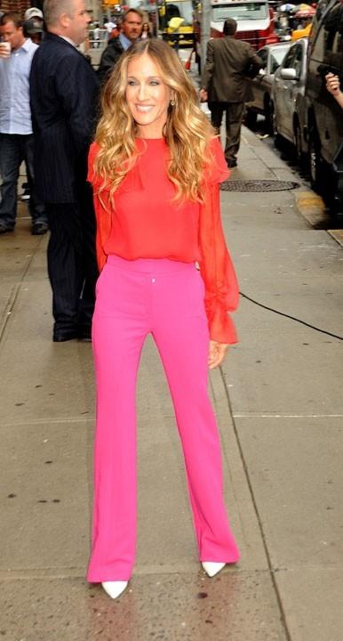 Sarah Jessica Parker se rendant au Late Show With David Letterman à New York, le 7 septembre 2011.