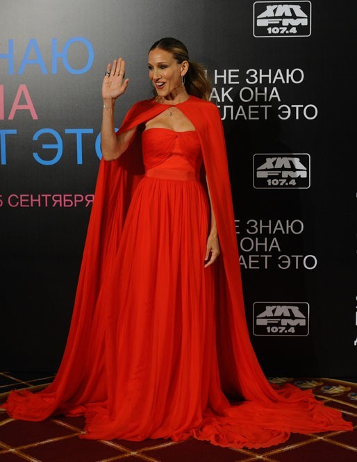 "Sarah Jessica Parker lors de la première du film ""I Don't Know How She Does It"" à Moscou, le 28 août 2011."