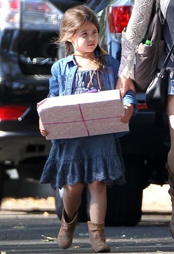 La petite Charlotte à Los Angeles le 9 août 2014