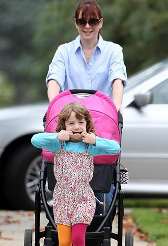 Alyson Hannigan et sa fille Satyana