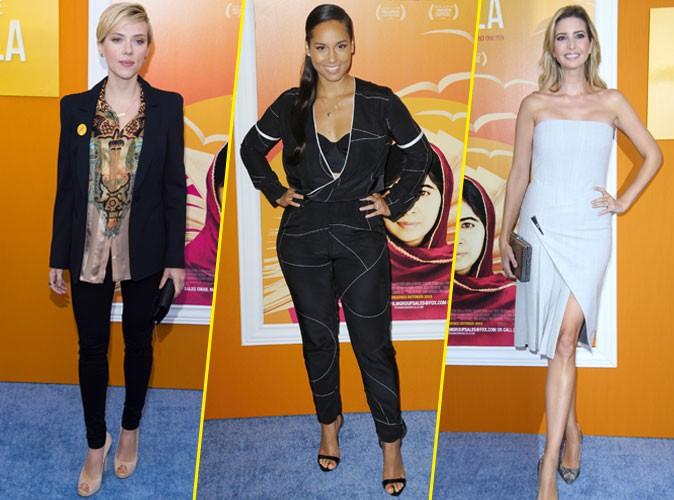Photos : Scarlett Johansson, Alicia Keys, Ivanka Trump enceinte : elles soutiennent Malala !