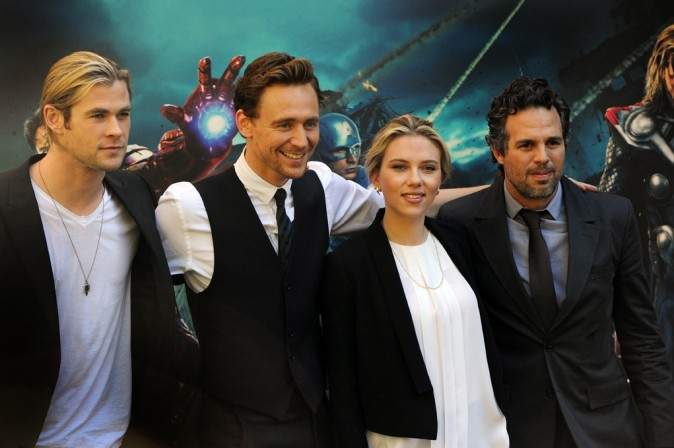 L'équipe de The Avengers le 21 avril 2012 à Rome