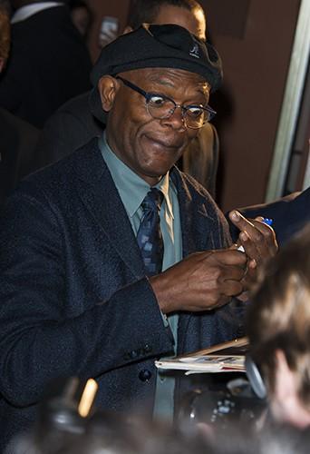 Samuel L. Jackson à Paris le 17 mars 2014