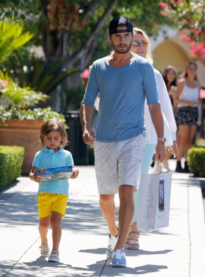 Scott Disick fait du shopping avec son fils à Los Angeles le 31 juillet 2013