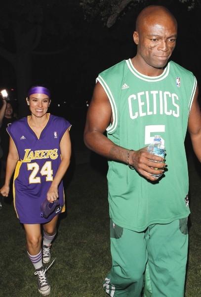 Seal et sa nouvelle chérie, Los Angeles, 27 octobre 2012