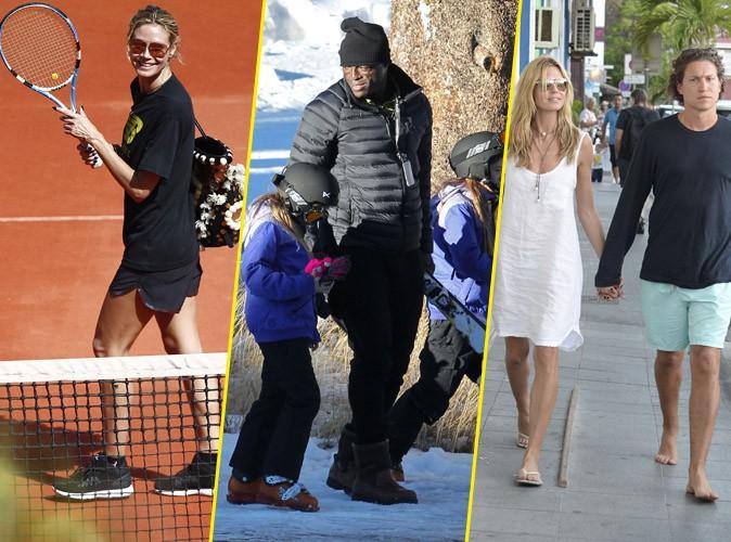 Photos : Seal : il s'occupe des enfants au ski pendant qu'Heidi Klum roucoule sur le court de tennis !