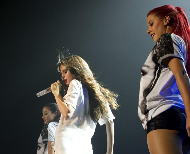 Selena Gomez en concert à Amsterdam, le 3 septembre 2013.