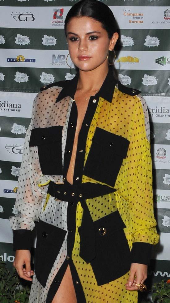 Selena Gomez au Ischia Global Film & Music Festival le 18 juillet 2014