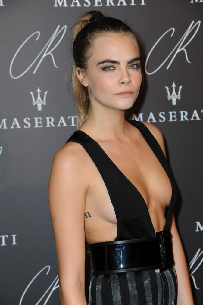 Cara Delevingne à la CR Fashion Book Party le 30 septembre 2014