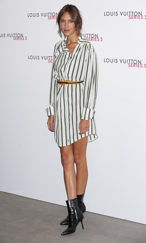 Alexa Chung à la soirée Louis Vuitton series 3, à Londres le 20 septembre 2015