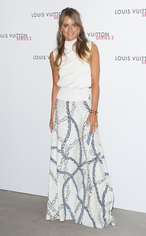 Cressida Bonas à la soirée Louis Vuitton series 3, à Londres le 20 septembre 2015