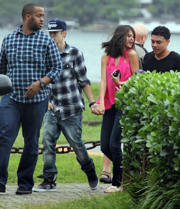 Selena toute contente d'être à Rio !