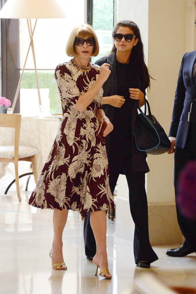 Photos: Selena gomez, en train de comploter avec Anna Wintour. Bientôt en une du Vogue US?
