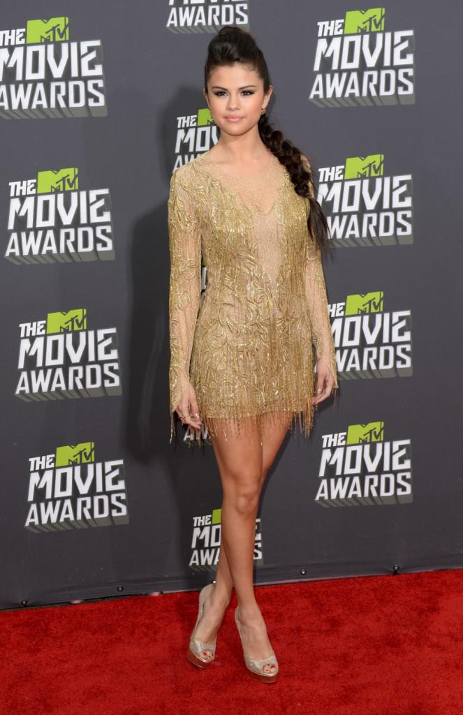 Selena Gomez lors de la cérémonie des MTV Movie Awards 2013 à Los Angeles.