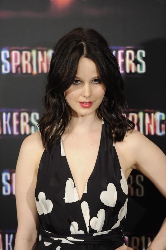 Rachel Korine lors du photocall du film Spring Breakers à Madrid, le 21 février 2013.