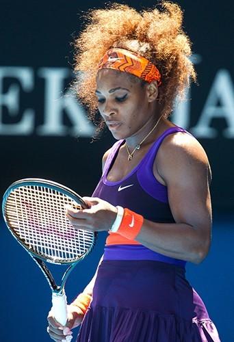Serena Williams le 23 janvier durant l'Open d'Australie à Melbourne