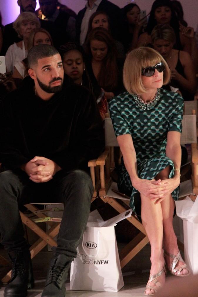 Drake et Anna Wintour le 15 septembre 2015
