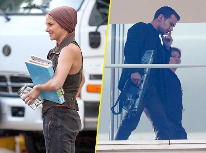 Shailene Woodley et Theo James à Atlanta le 25 août 2014