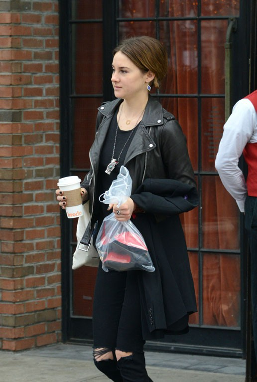 Shailene Woodley à New-York le 17 mars 2015
