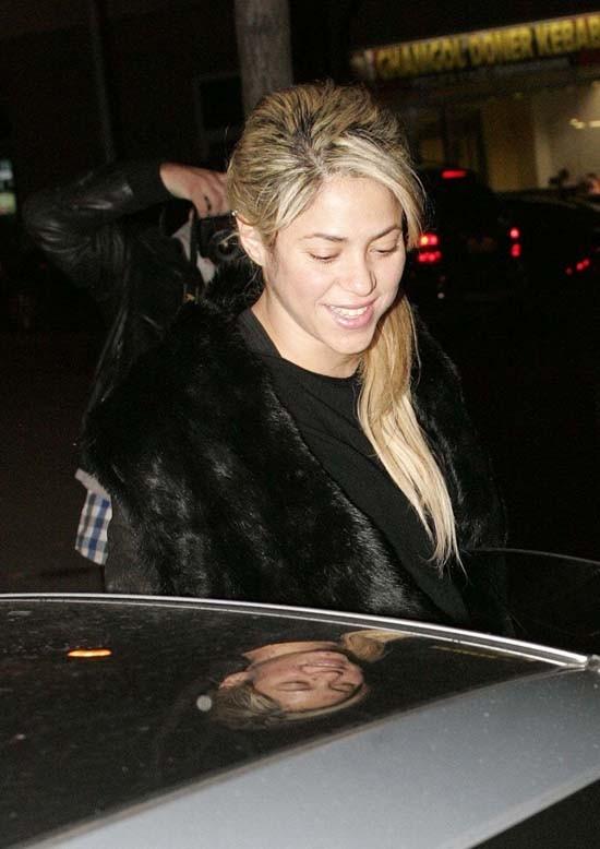 Shakira à Barcelone le 16 décembre 2012