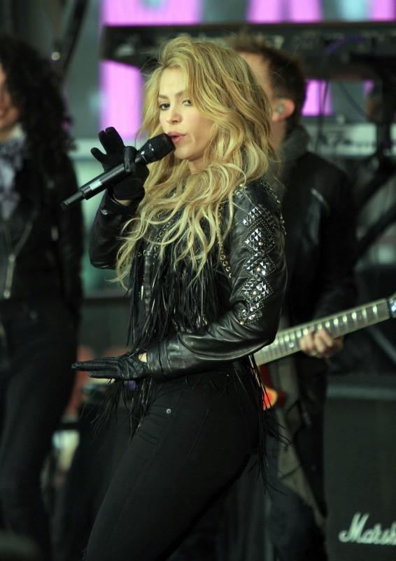 """Shakira sur la plateau du """"Today Show"""" à New York, le 26 mars 2014."""