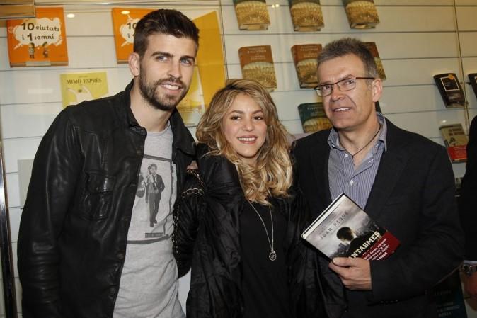 Shakira, Joan et Gerard Piqué le 14 mars 2013 à Barcelone