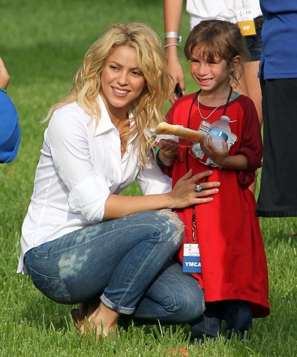 Shakira adore les enfants ...