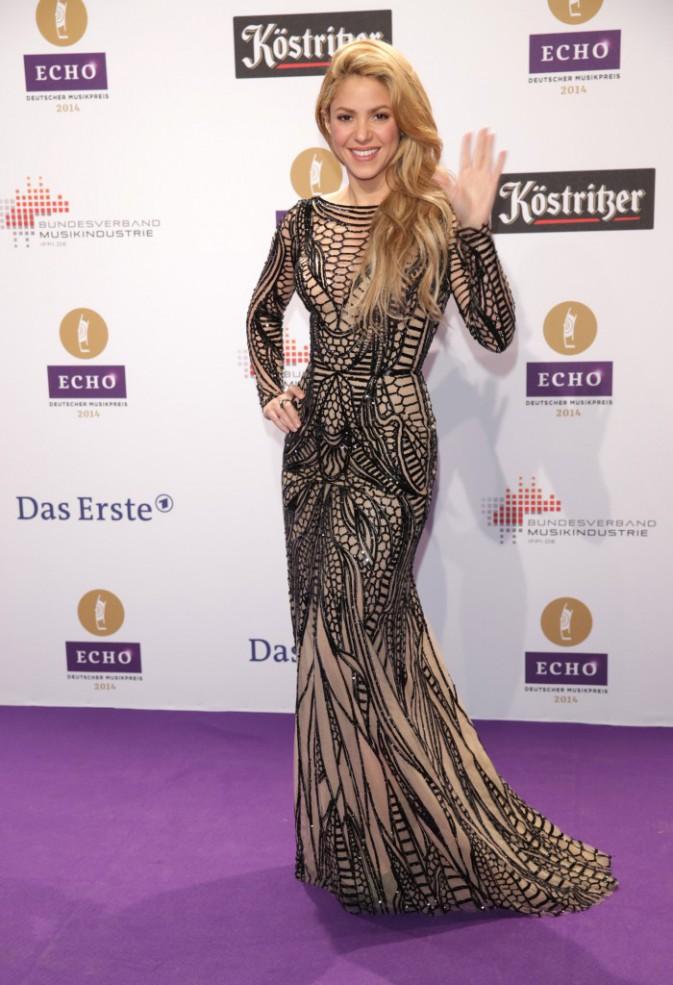 Shakira lors de la cérémonie des Echo Music Awards à Berlin, le 27 mars 2014.