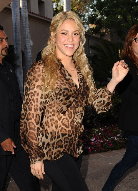 Shakira arrive au NBC Universal Summer Press Day 2013 à Pasadena, le 22 avril 2013.