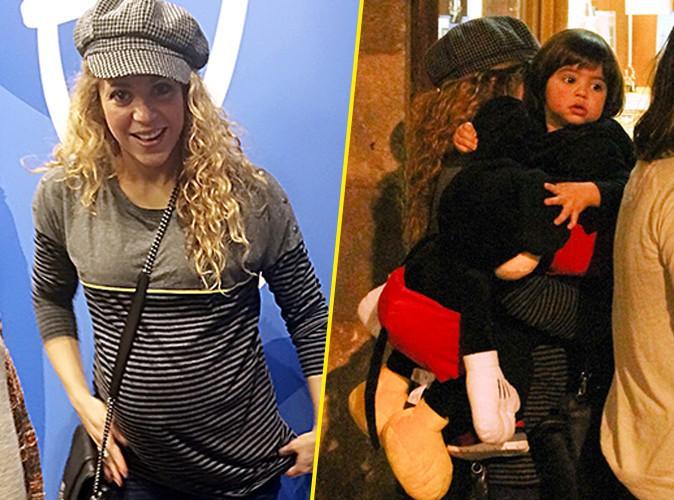 Shakira : maman enceinte combl�e, fi�re de son Milan en Mickey !