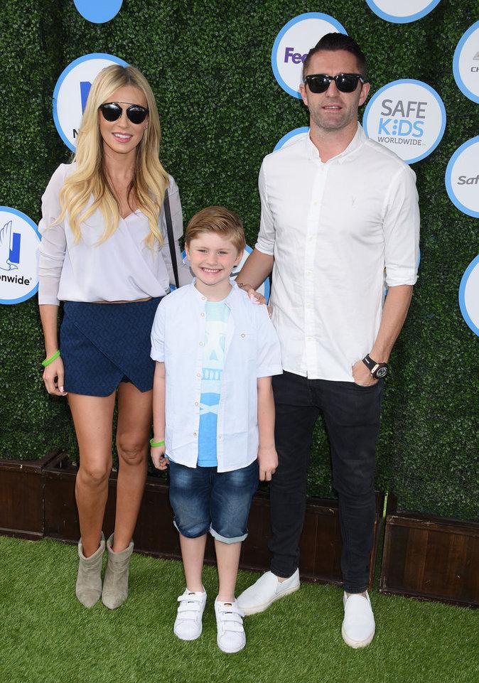 Claudine Palmer, Robbie Keane et leur petit garçon