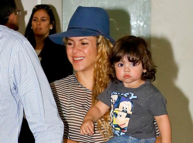 Shakira et son petit Milan à Rio le 9 juillet 2014