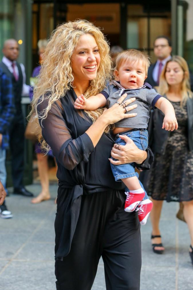 Shakira et Sasha le 24 septembre 2015