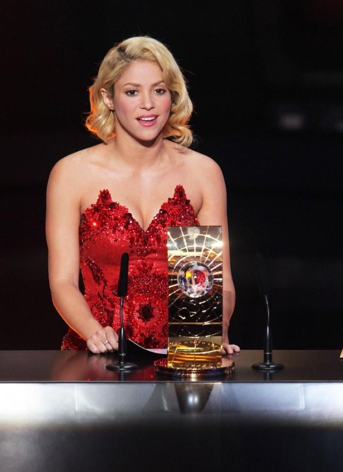 Shakira lors du Gala FIFA Ballon d'Or 2011 à Zurich, le 9 janvier 2012.