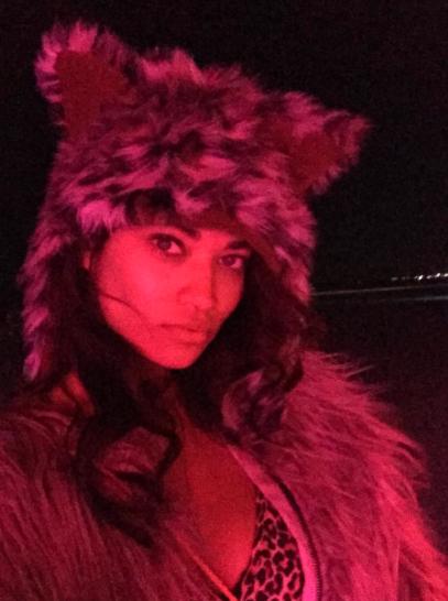 Shanina Shaik au Burning Man Festival