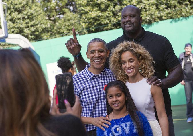 Shaquille O'Neal, Barack Obama, et Laticia Rolle