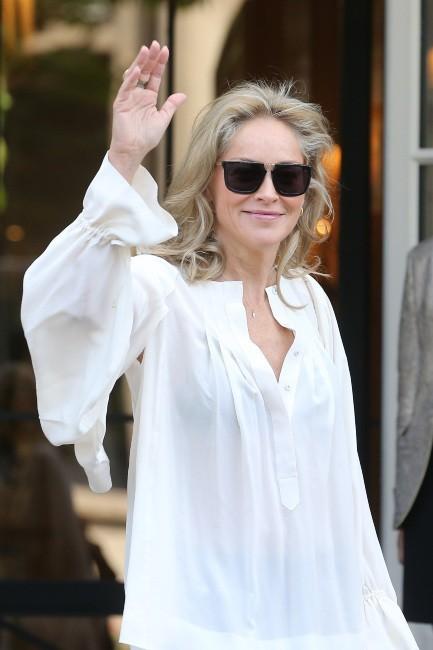 Sharon Stone le 5 juillet 2013 à Paris